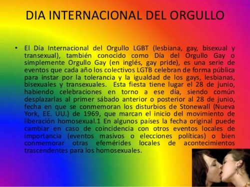 que dia se celebra el orgullo gay