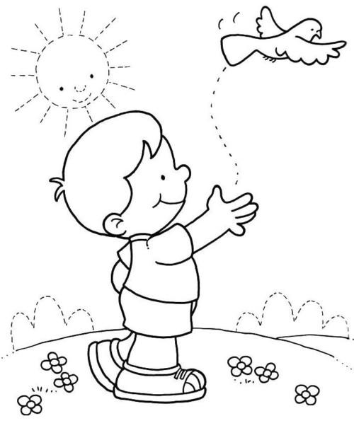Dibujos para pintar Día del Niño  (5)