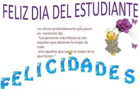 Felíz día del Estudiante carteles  (6)