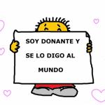 Imágenes del Día del Donante de Órganos y Tejidos con información