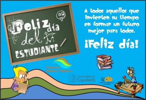 Felíz día del Estudiante carteles  (7)